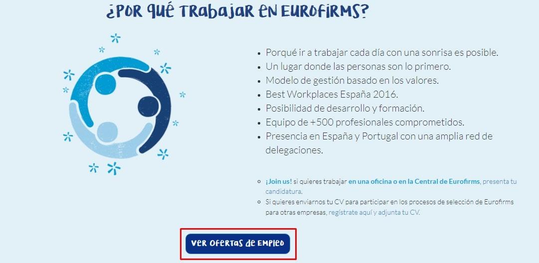 ofertas de empleo en Eurofirms