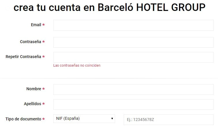Date de alta en Barceló Hotel Group
